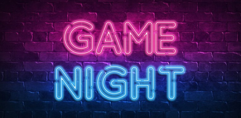 Game Night in neon